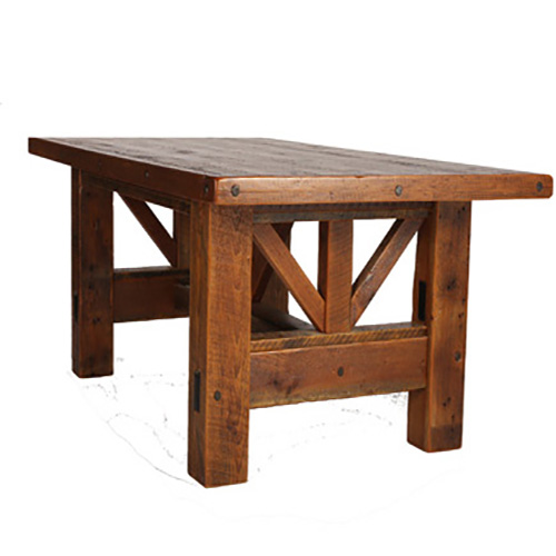 Windy stables king classic dining table rustic log reclaimed industrial contemporary - King furniture dining table ...