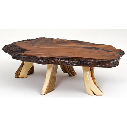 Redwood And Juniper Coffee Table Rustic Log Reclaimed Industrial Contemporary Furniture