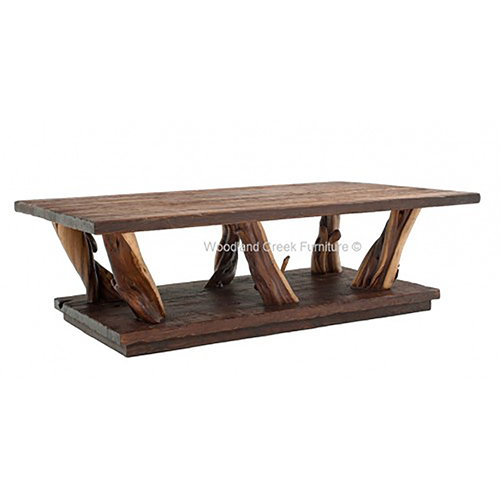 Lodge Natural Wood Coffee Table - Rustic