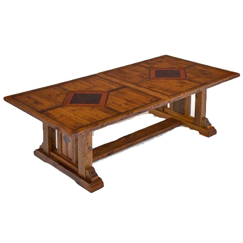 Timber Frame Barn Wood Dining Table Logfurnitureplace: Timber Frame 7-13' Extension Table