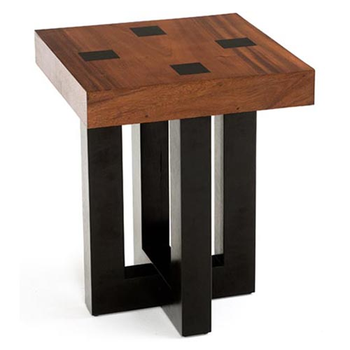 Rustic End Tables Stunning Attractive Rustic End Table Hd  : Contemporary Mahogany End Table with Modern Base from www.lagenstore.com size 500 x 500 jpeg 42kB