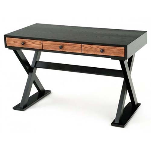 Modern Chic Wood Desk with 3 Drawers OFD07321