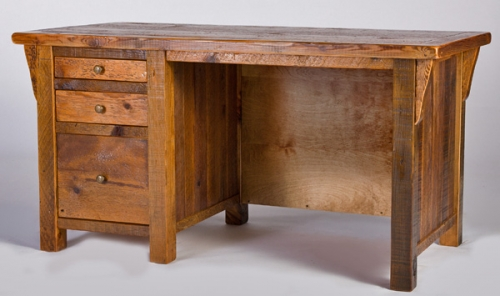Refined Rustic Desk 4 Rustic Log Reclaimed Industrial Contemporary Furniture