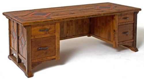 Refined Rustic Desk 5 Rustic Log Reclaimed Industrial Contemporary Furniture