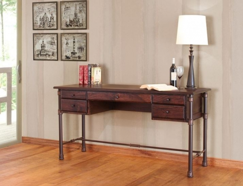 Refined Rustic Desk 3 Rustic Log Reclaimed Industrial Contemporary Furniture