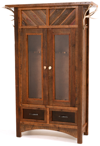 Refined Rustic Gun Cabinet 1 Rustic Log Reclaimed Industrial Contemporary Furniture