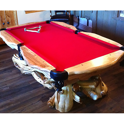 natural wood pool table rustic log reclaimed. Black Bedroom Furniture Sets. Home Design Ideas