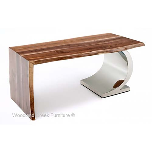 Black Walnut Organic Wood Desk OF07338