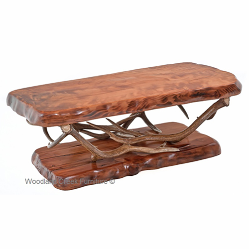 Large Base Antler Coffee Table Rustic Log Reclaimed Industrial Contemporary Furniture